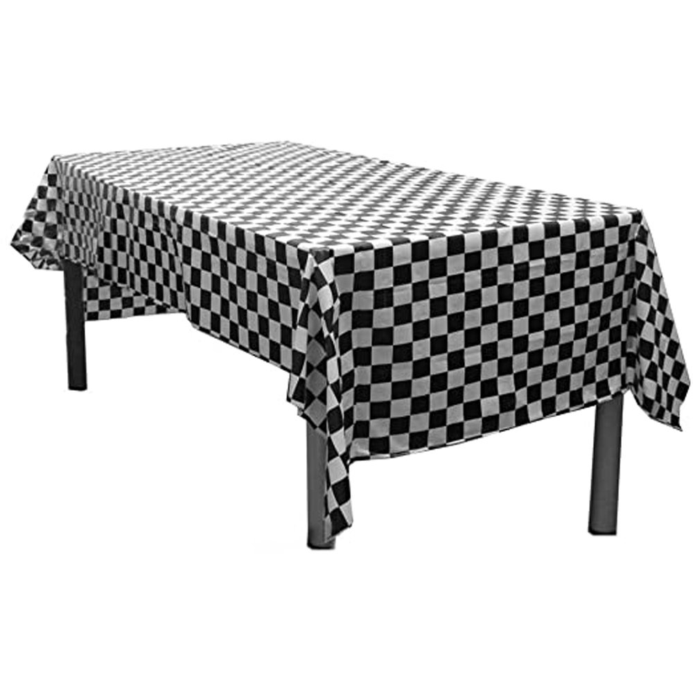 Checkered Black & White Tablecover
