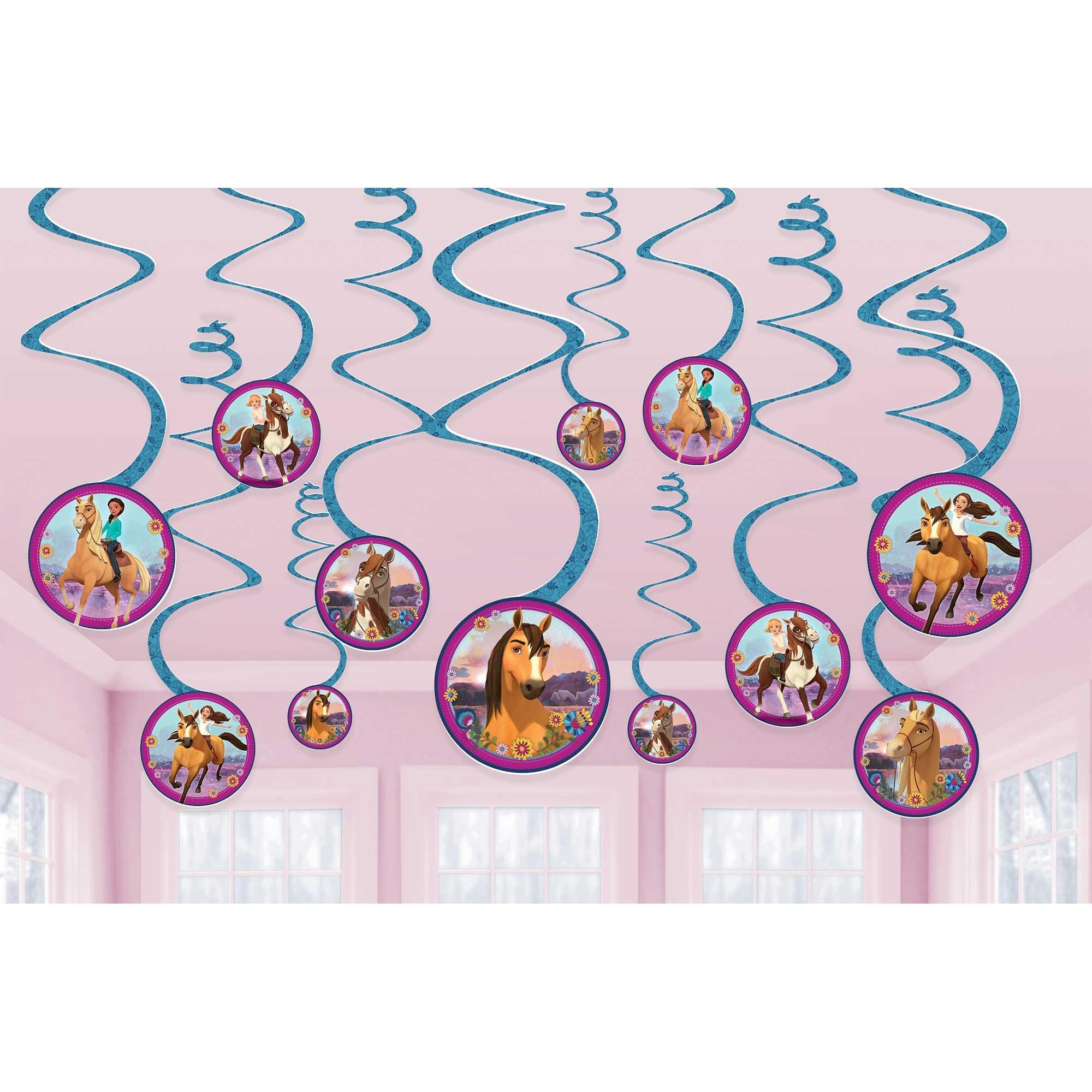 Spirit Riding Free Spiral Swirls Hanging Decorations