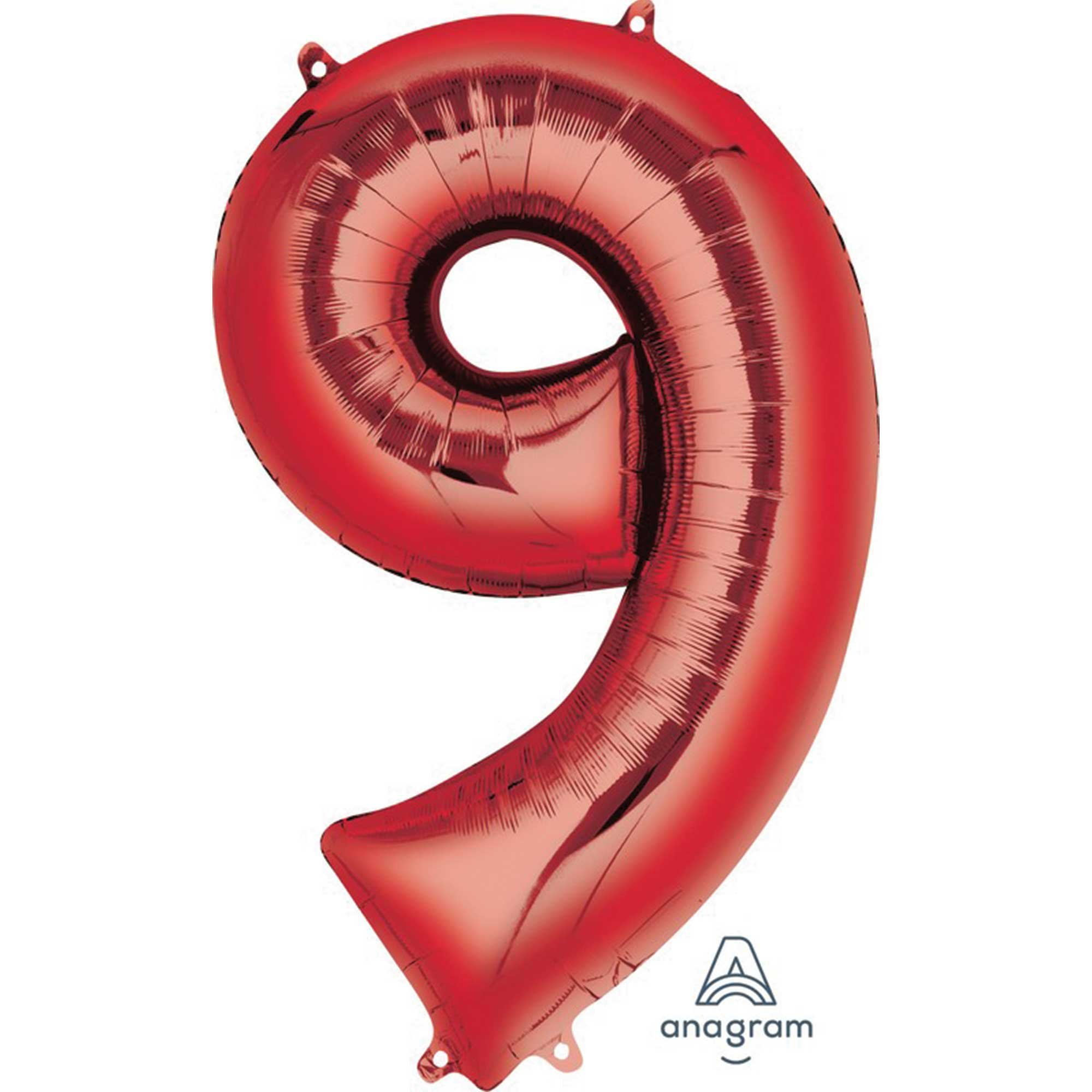 SuperShape Red Numeral 9.  L34