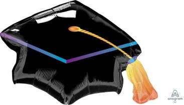 SuperShape Black Graduation Cap P30