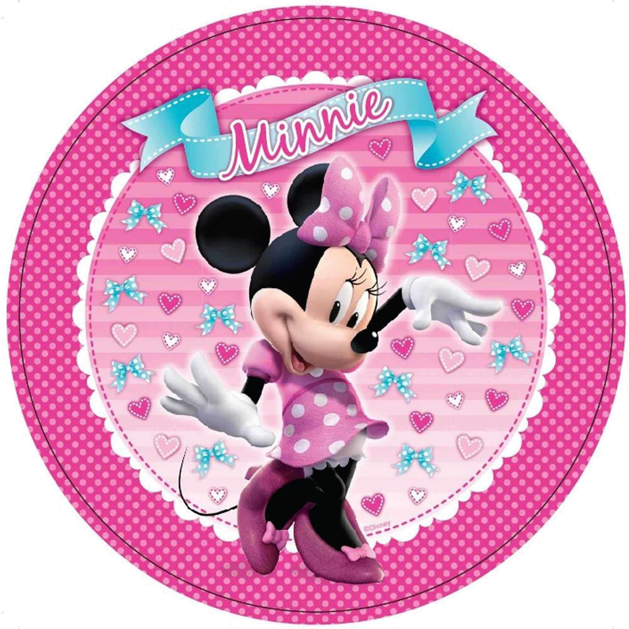 Minnie Mouse 23cm Round Plates