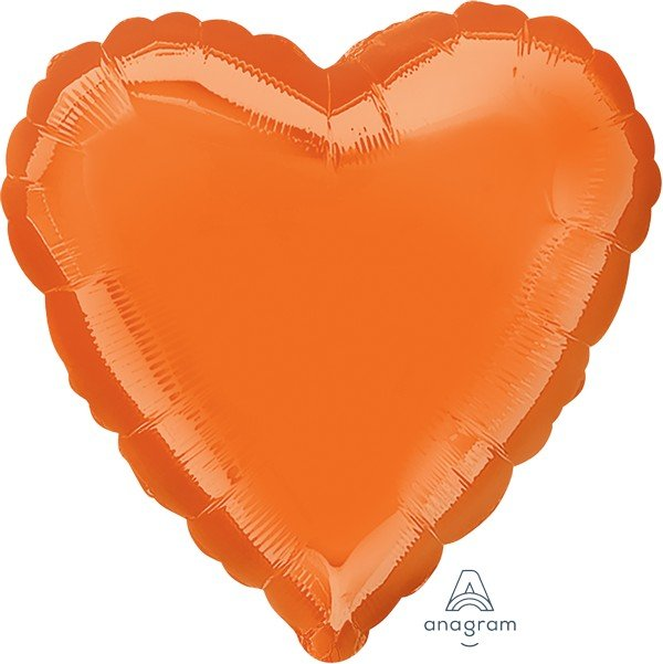 45cm Standard Heart HX Metallic Orange S15