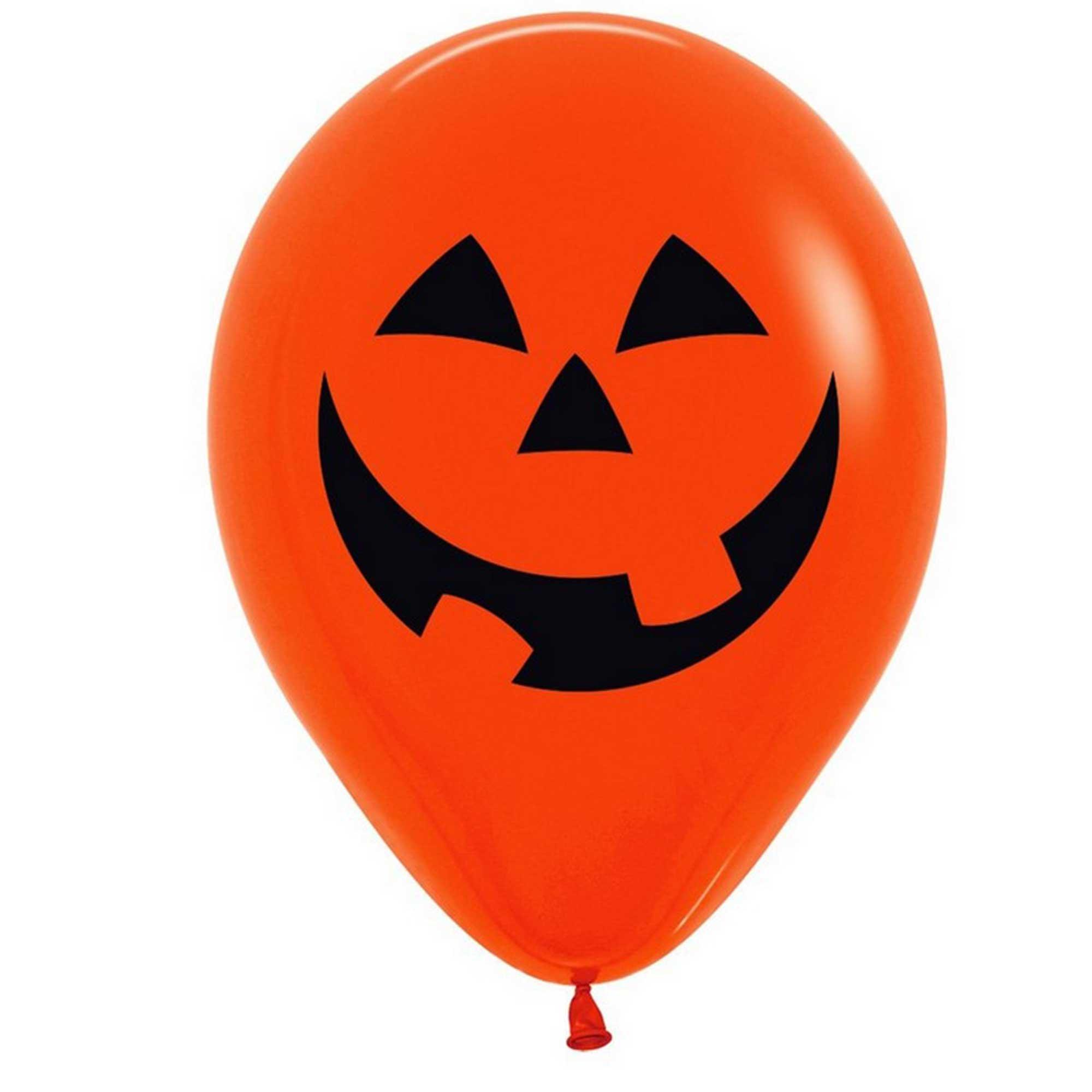 Sempertex 30cm Fashion Pumpkin Black Latex Balloons, 12PK