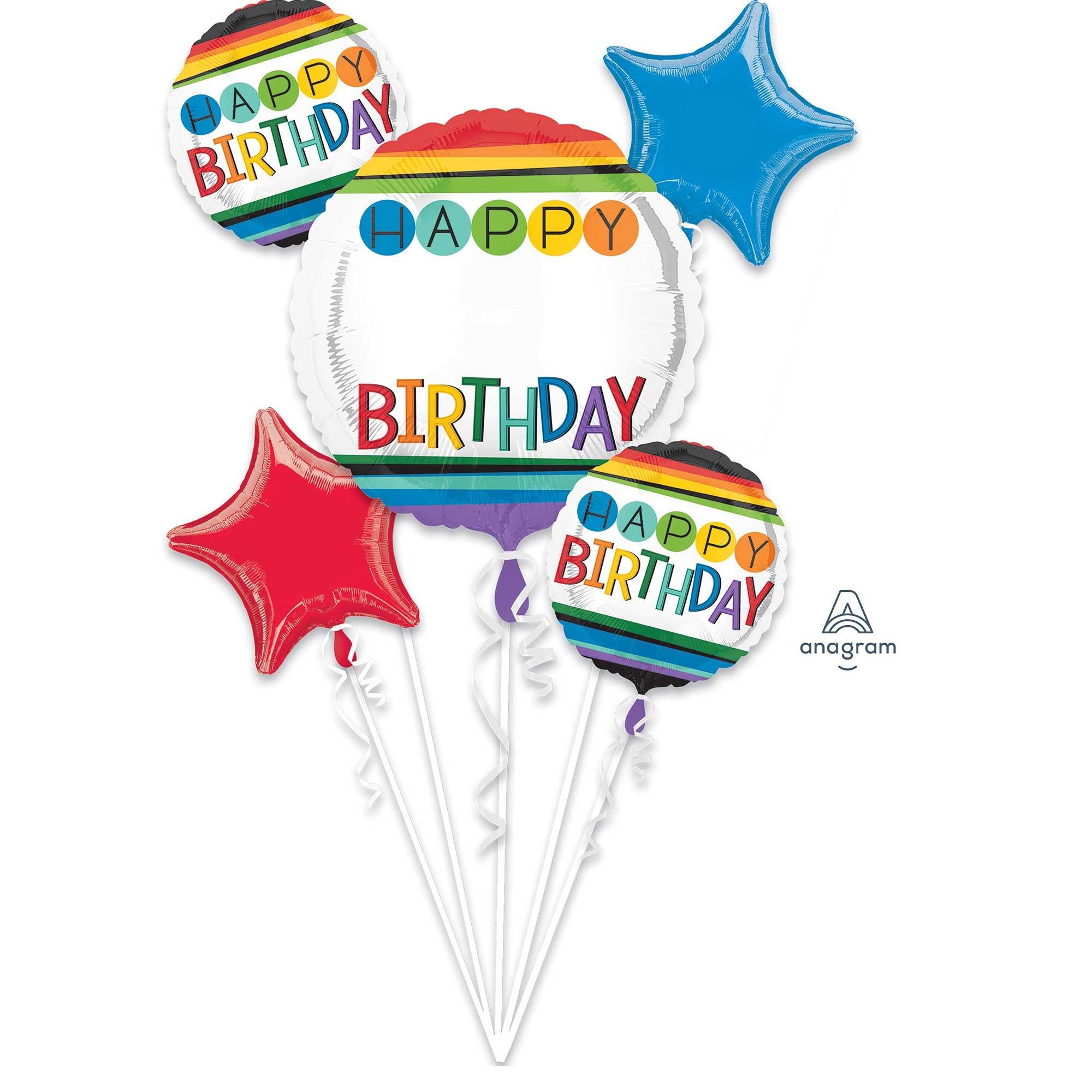 Bouquet Personalized Rainbow Happy Birthday Personalize It! P90