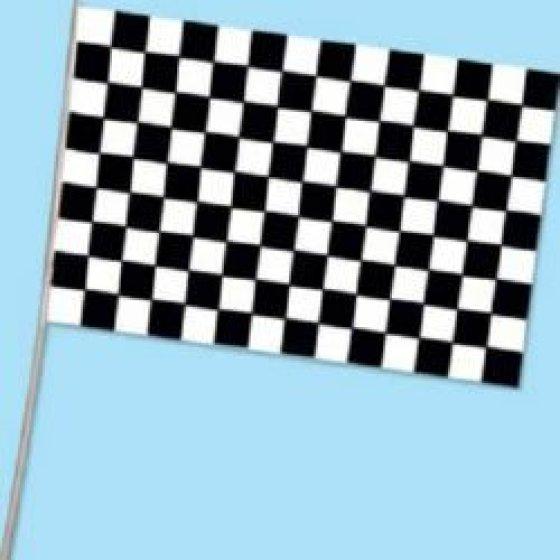 Checkered Black & White Flag 28cm x 43cm