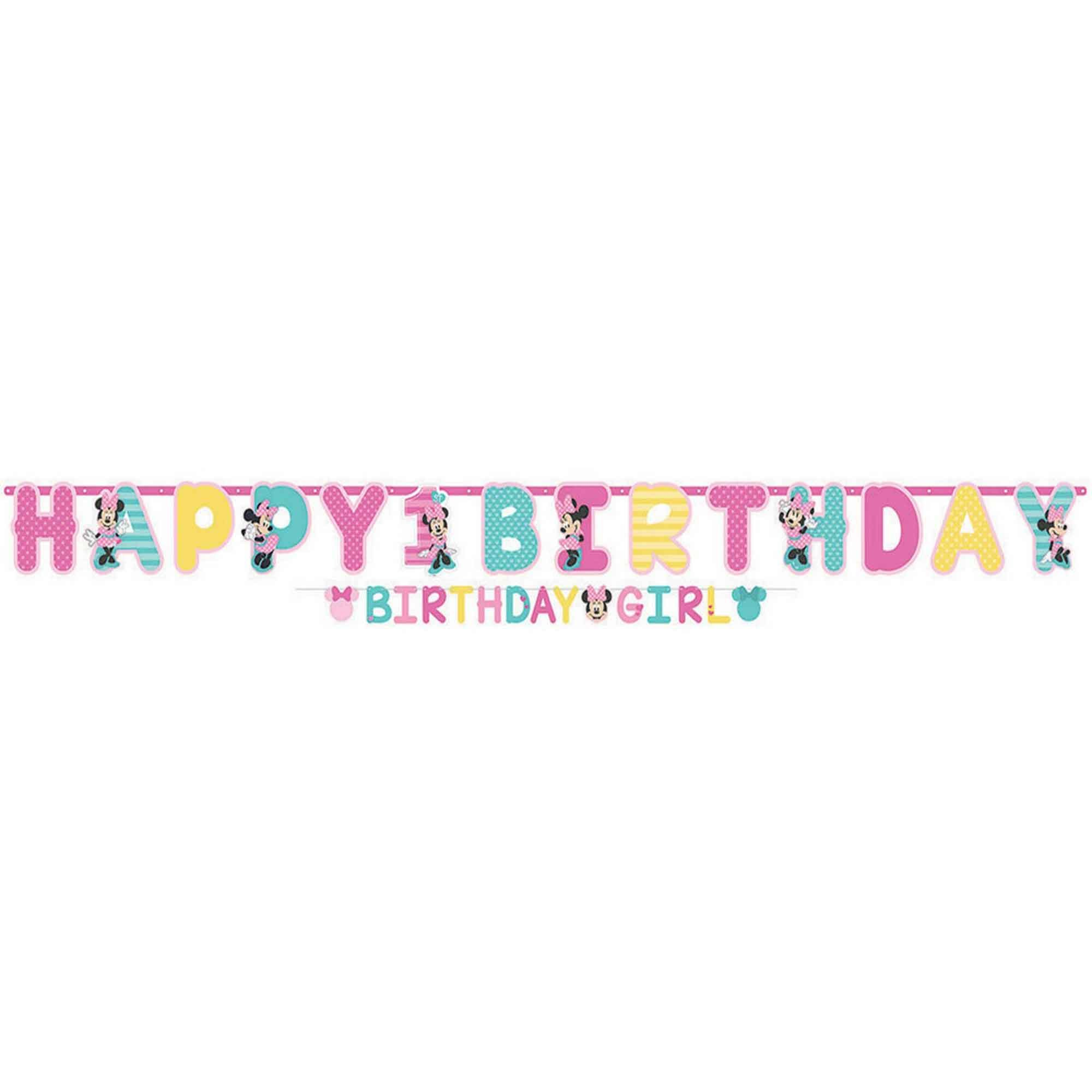 Minnie Fun To Be One Jumbo Letter Banner Kit
