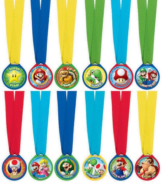 Super Mario Brothers Mini Award Medals