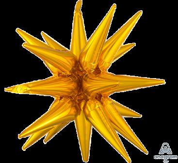 SuperShape Multi-Balloon Large Magic Gold Star