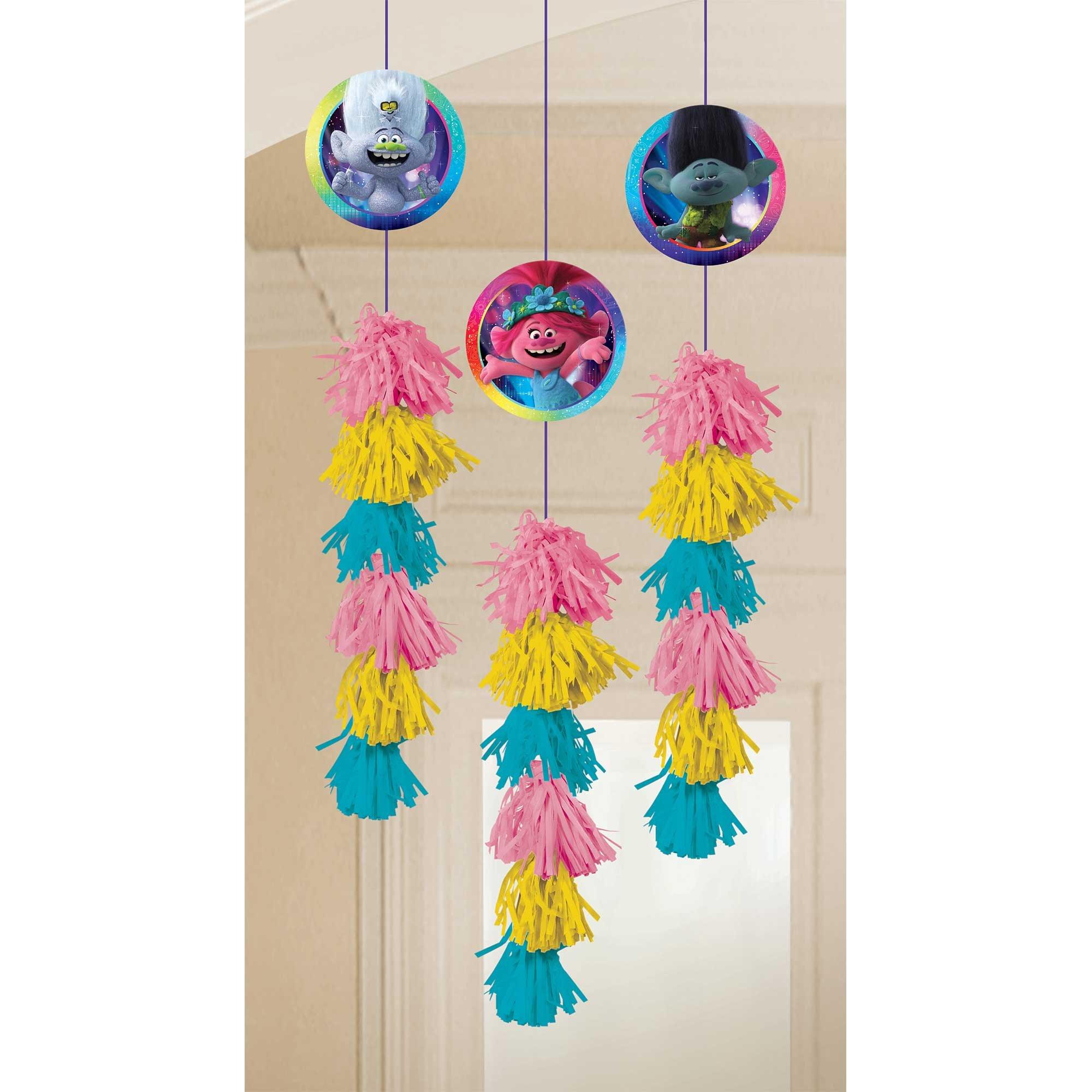 Trolls World Tour Hanging Dangle Decorations
