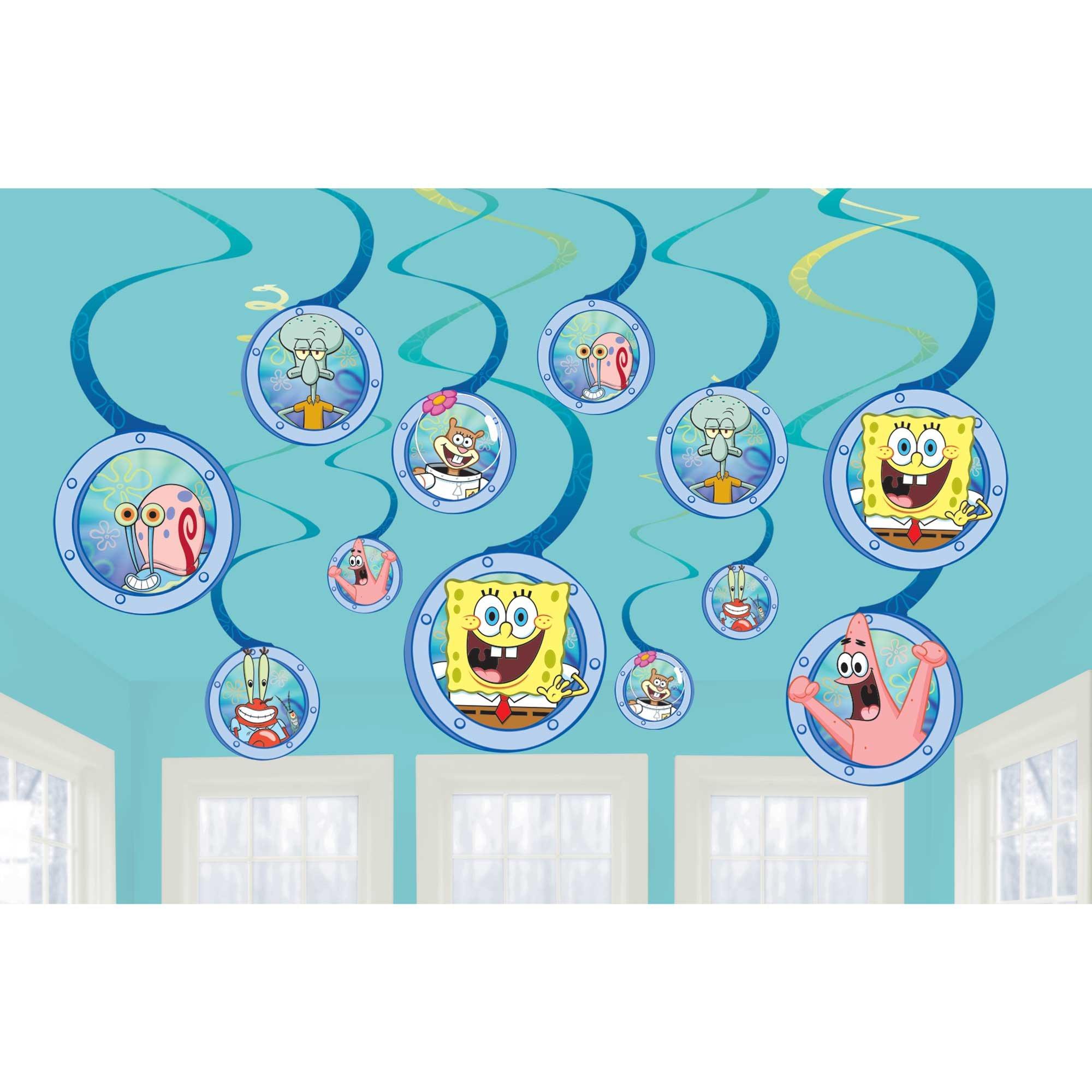 SpongeBob Spiral Swirls Hanging Decorations