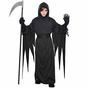 Black Terror Robe Costume  - Child