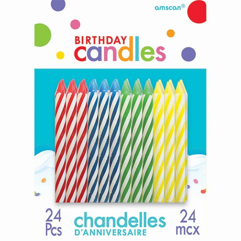 Sparkle Candles Assorted Primary Colours