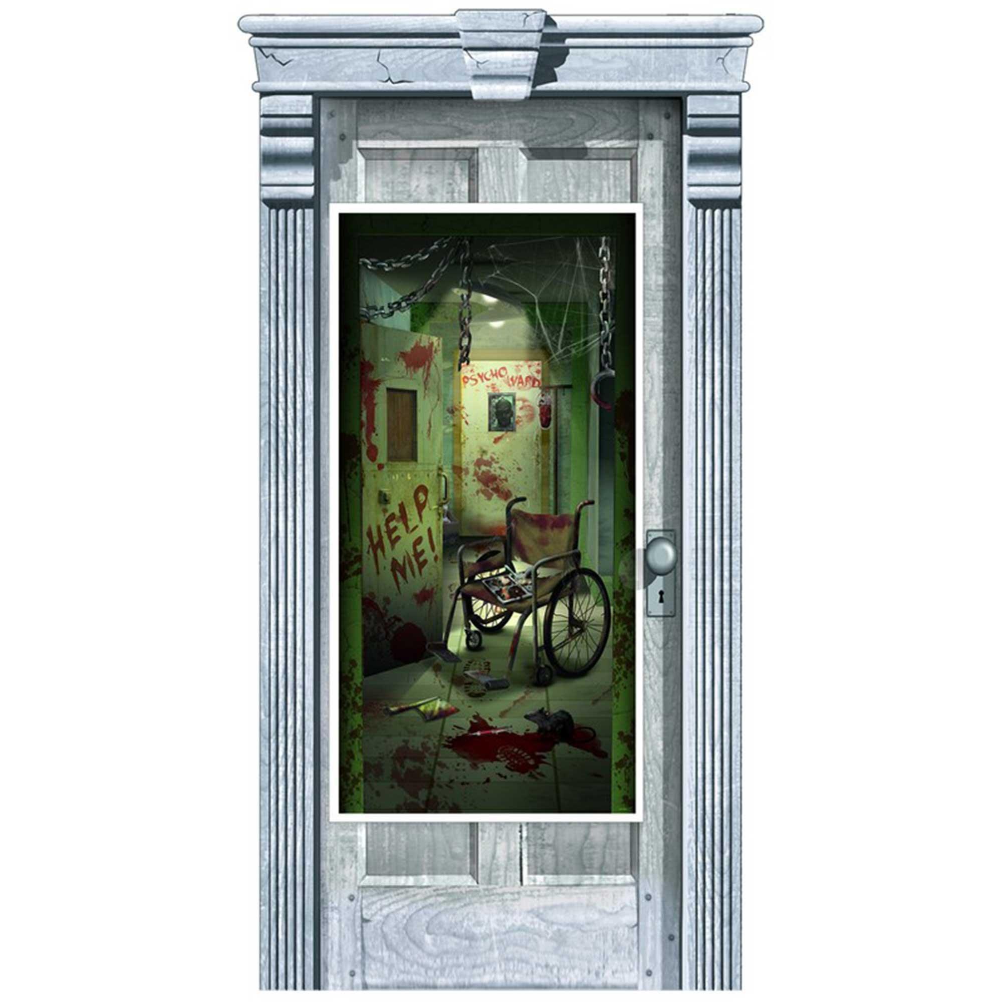 Asylum Corridor of Doors Door Decorations - Plastic