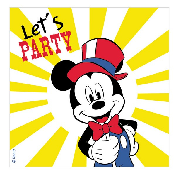 Disney Mickey Carnival Lunch Napkins