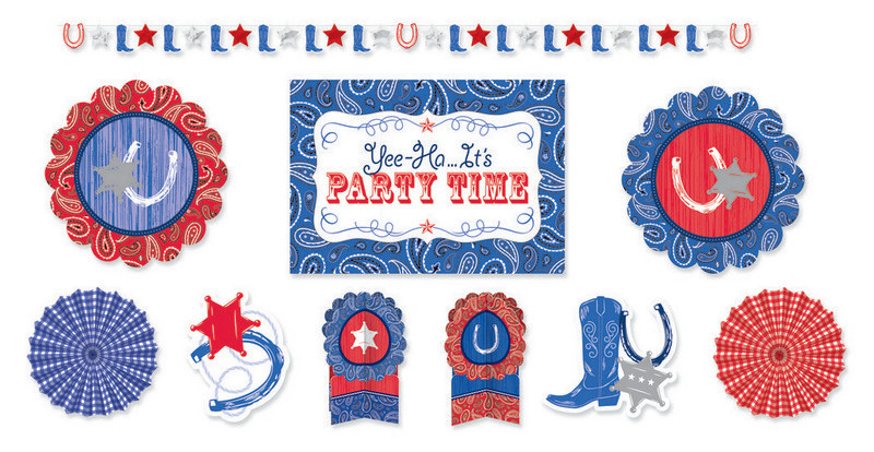 Bandana and Blue Jeans Room Decorations Kit