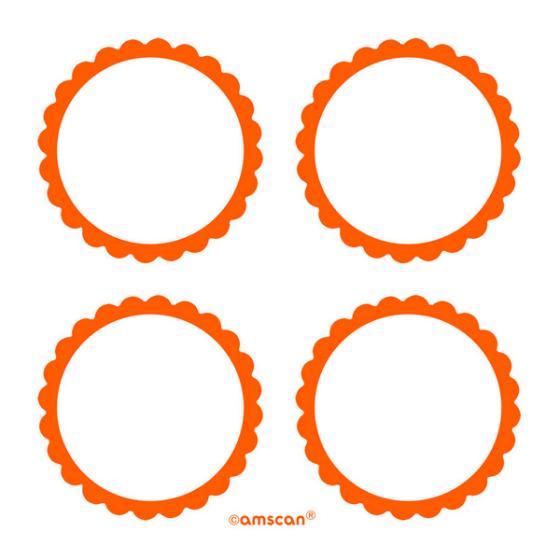 Labels Scalloped - Orange
