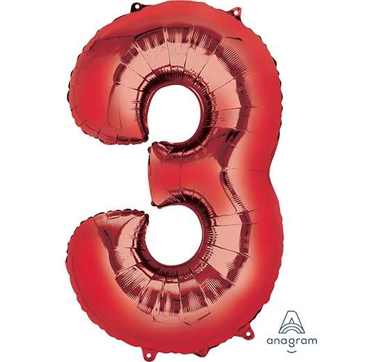 SuperShape Red Numeral 3.  L34