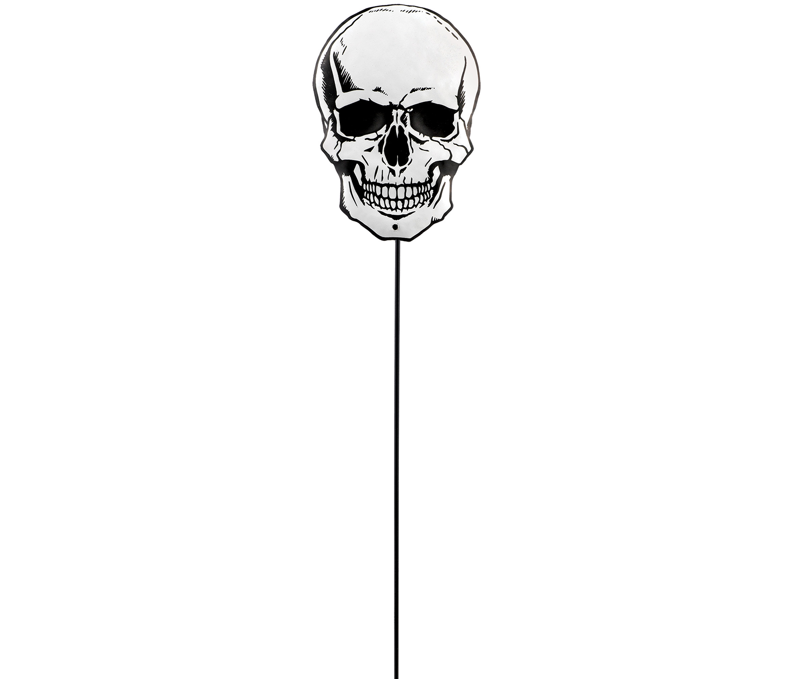 Skull Shaped Small Metal Yard Stake