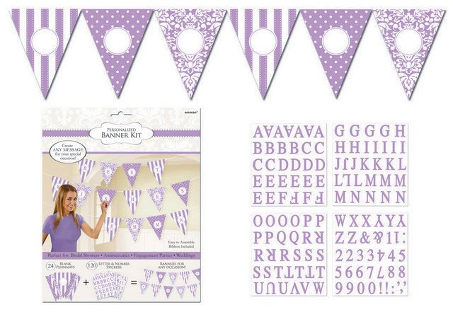 Lilac Personalized Pennant Banner