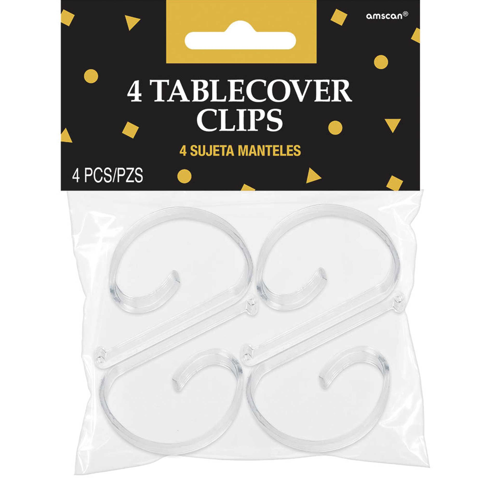 Tablecover Clips Clear Plastic