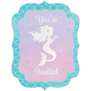Mermaid Shine Iridescent Invitations You're Invited