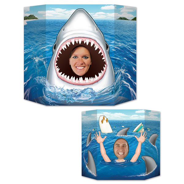 Shark & Swimmer Photo Prop