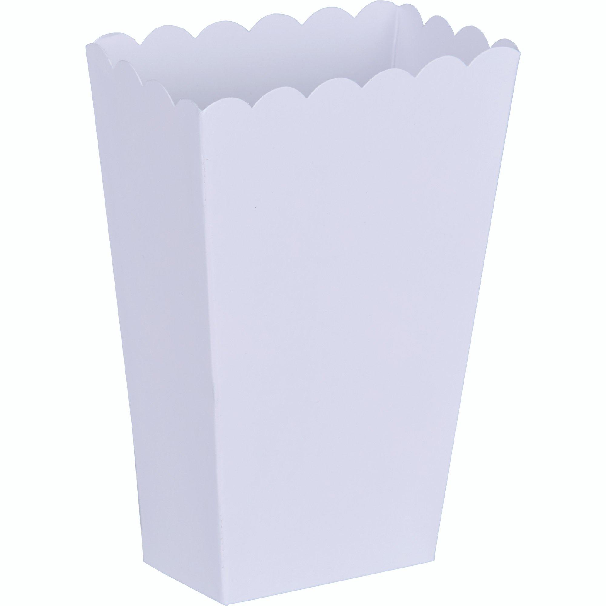 Popcorn Favor Boxes Small White