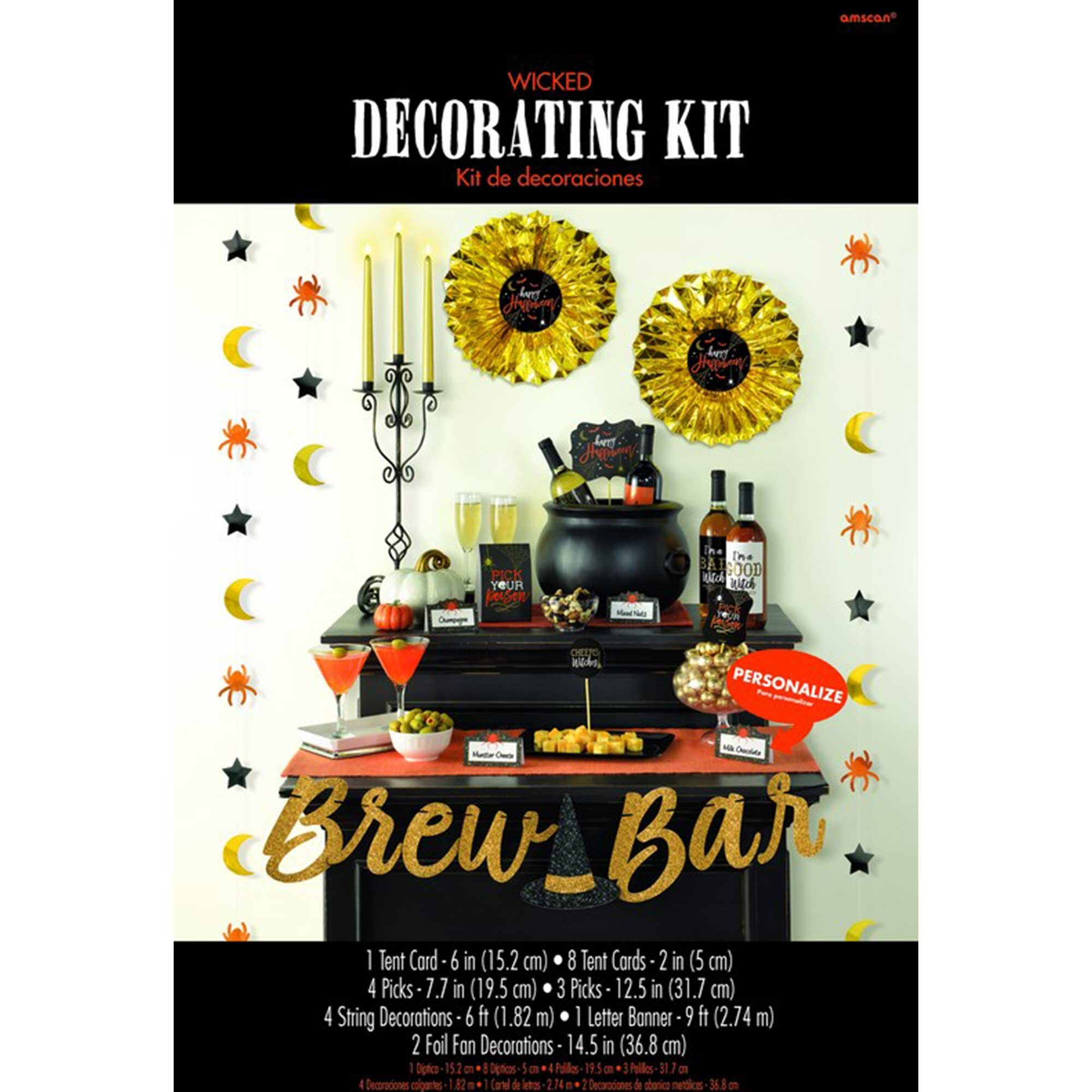 Wicked Brew Bar Happy Halloween Decorating Kit