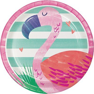 Pineapple N Friends Flamingo Lunch Plates Paper 18cm