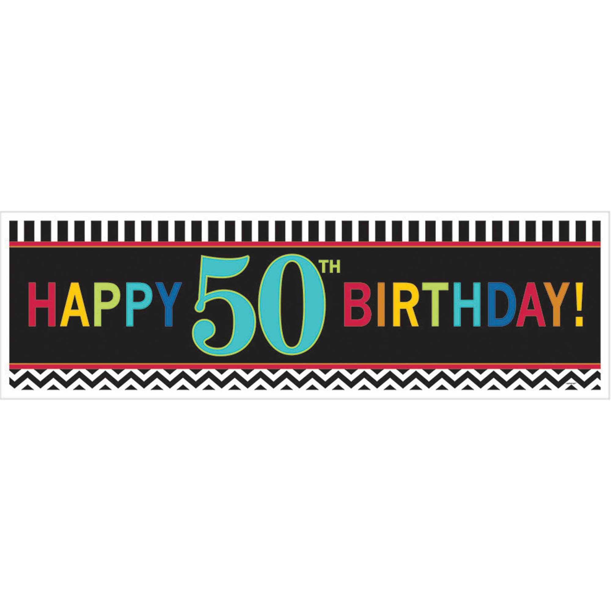 50th Birthday Celebration Giant Banner