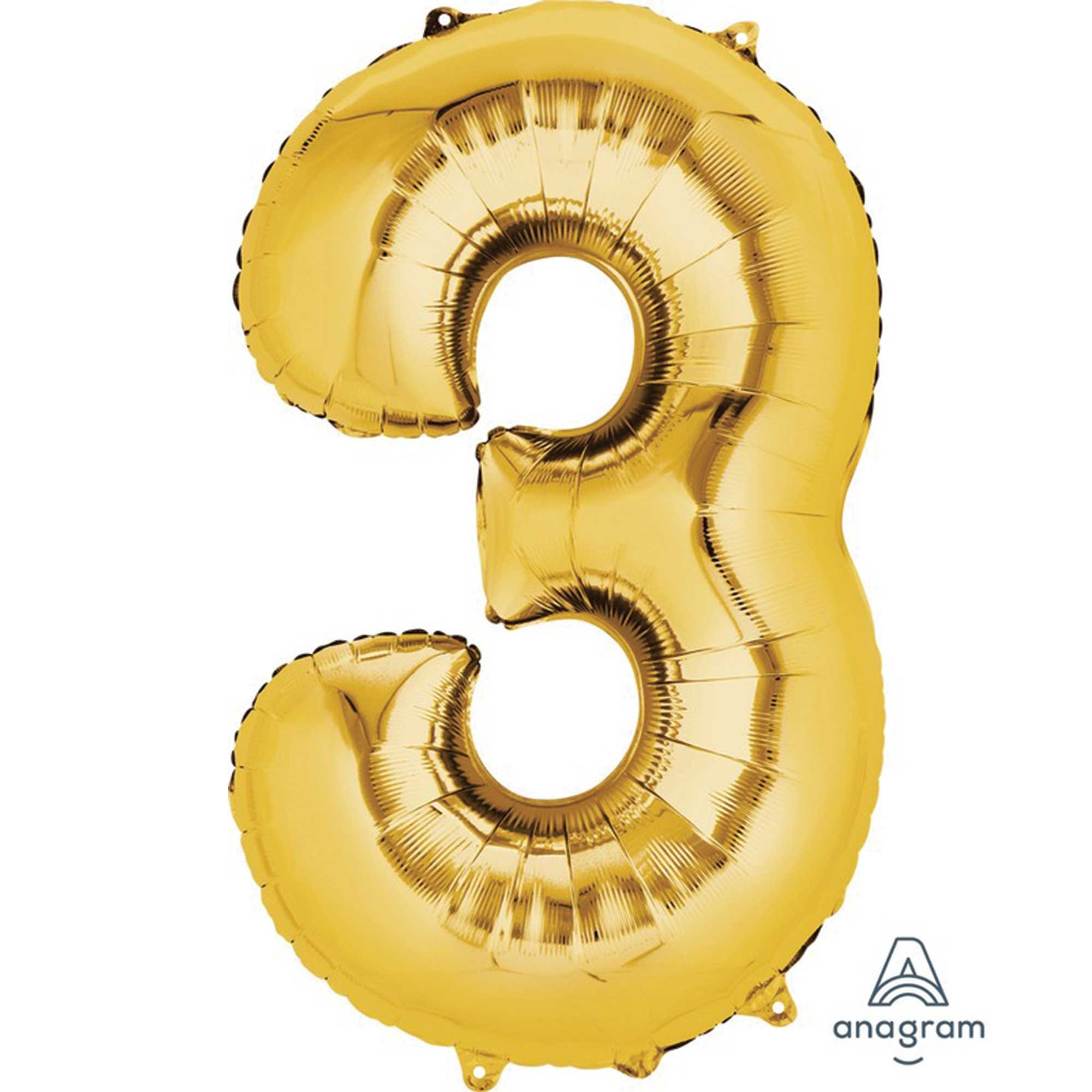 SuperShape Gold Numeral 3.  86cm L34