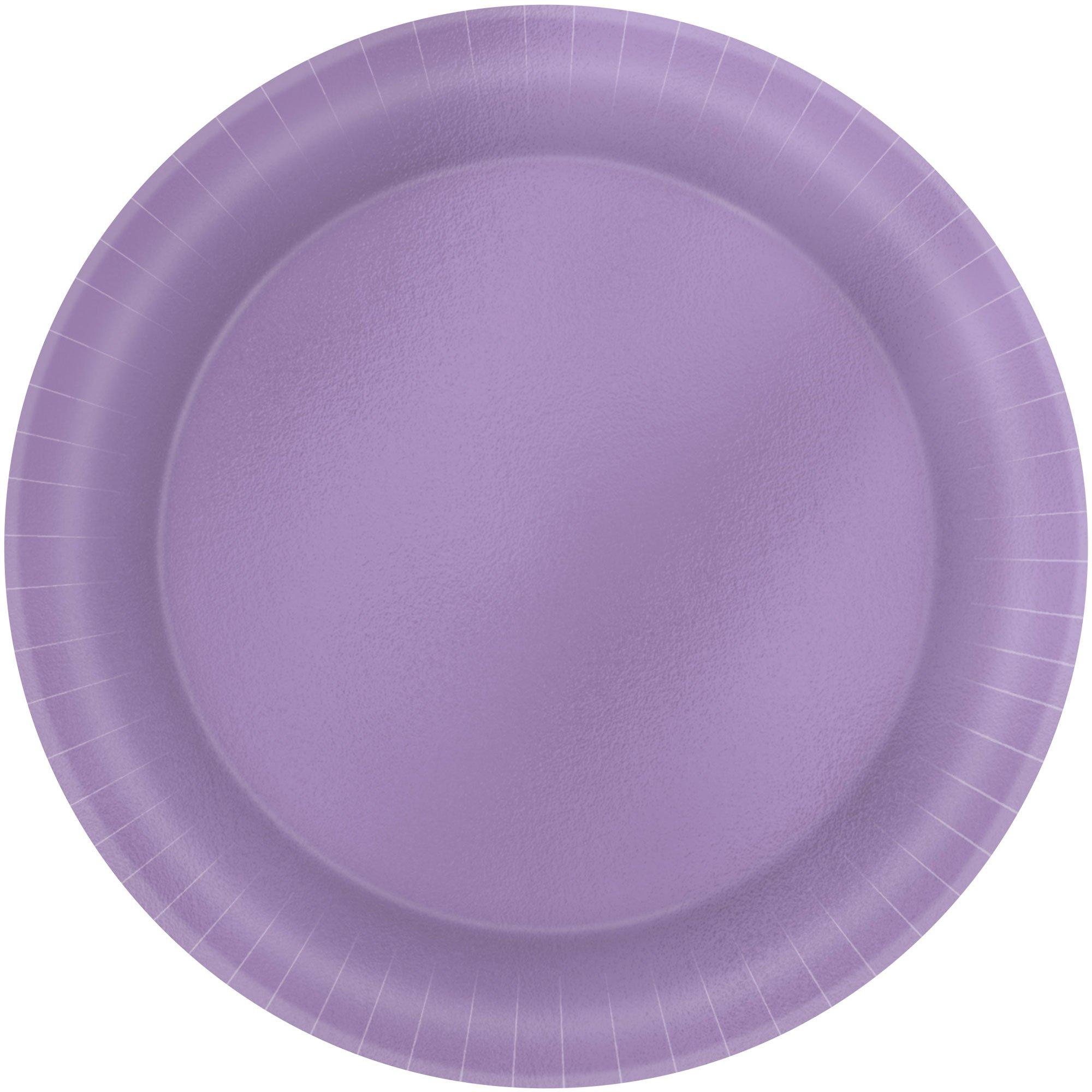 Metallic 17cm Lavender Round Plates