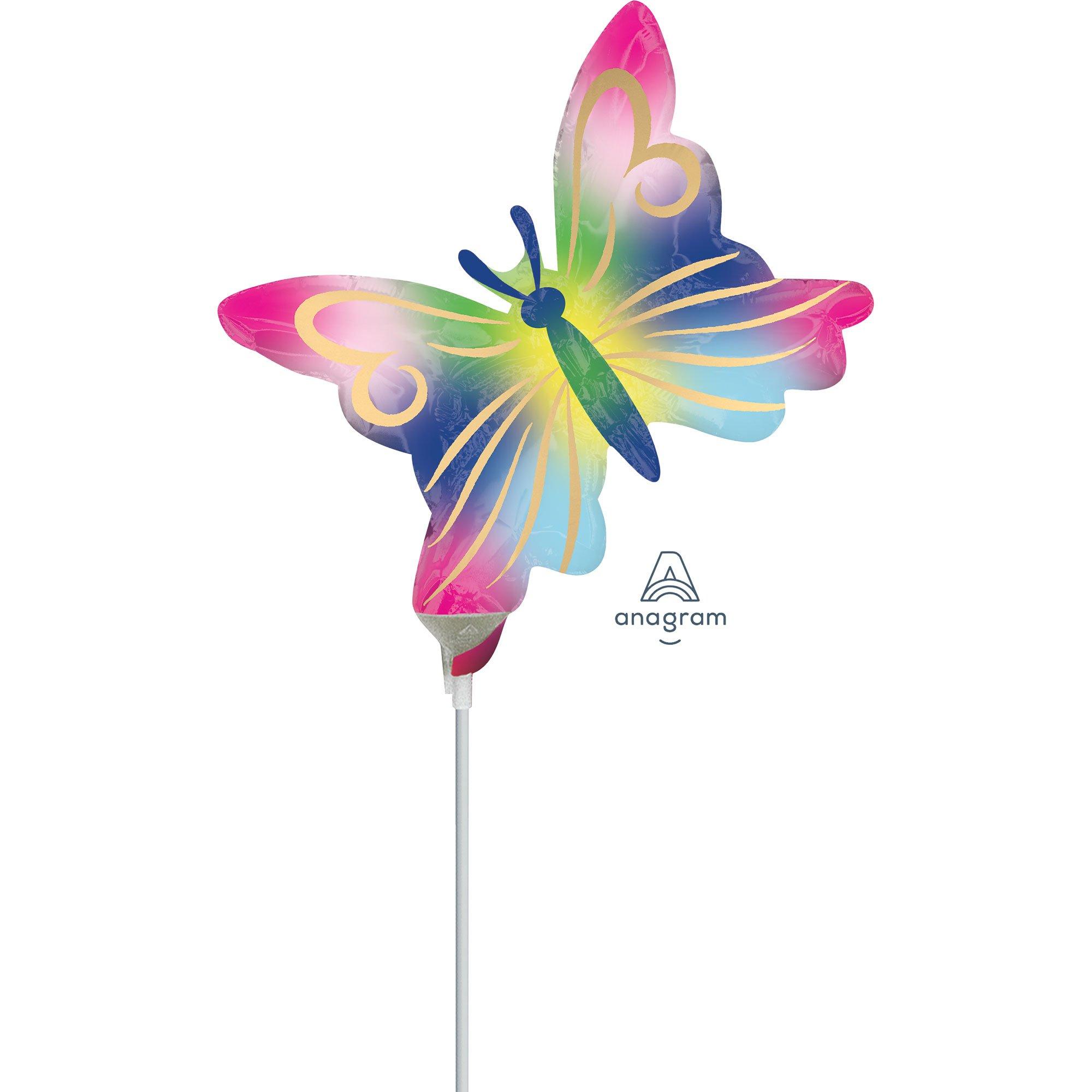 Mini Shape Satin Watercolour Butterfly A30