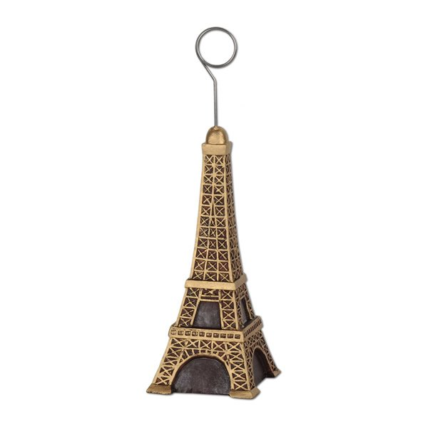 Photo Holder Balloon Weight Eiffel Tower Metallic