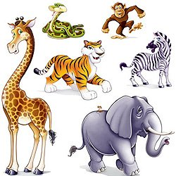 Jungle Animals Wall Decorations Insta-Theme Props