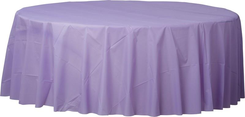 Plastic Round Tablecover-Hydrangea