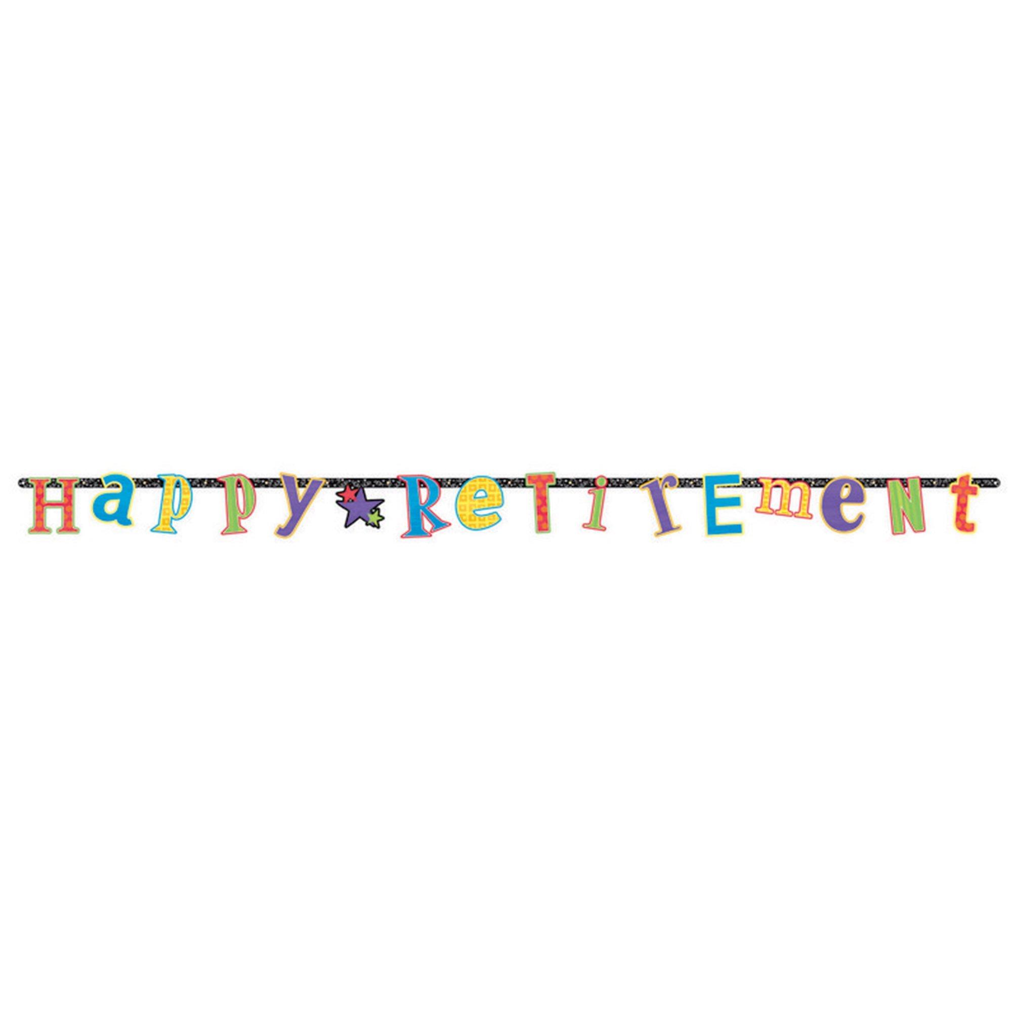 Retirement Illustrated Letter Banner