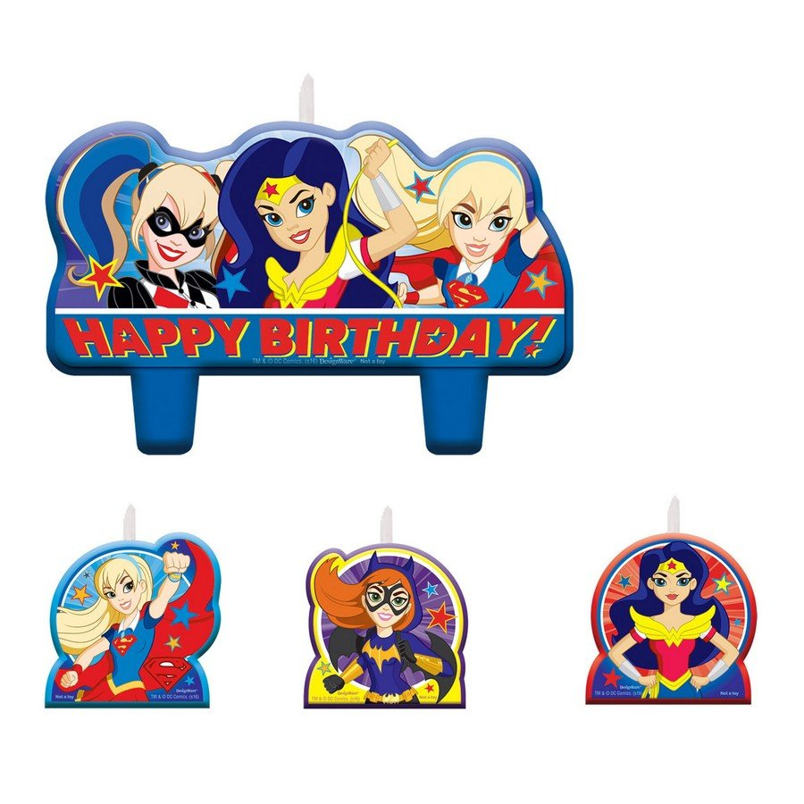 DC Superhero Girls Birthday Candle Set