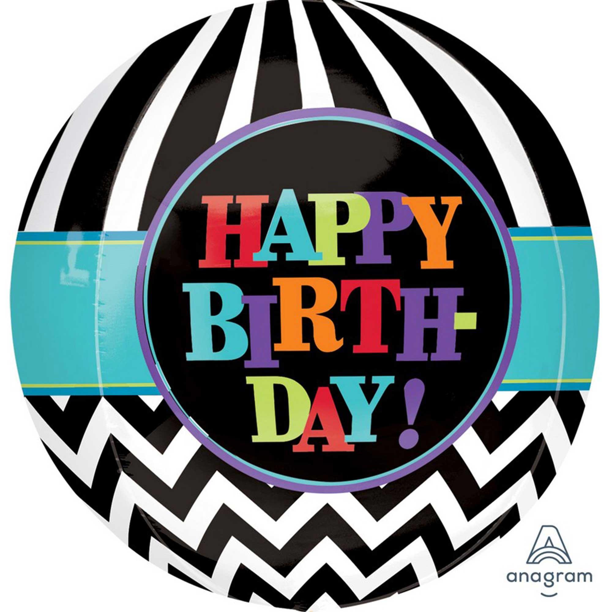 Orbz XL Dancing Lines Happy Birthday G20
