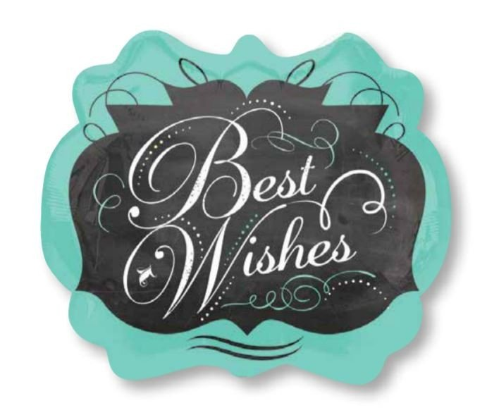 SuperShape Chalkboard Best Wishes P35
