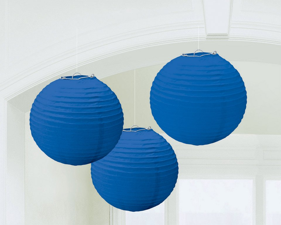 Round Paper Lanterns - Bright Royal Blue