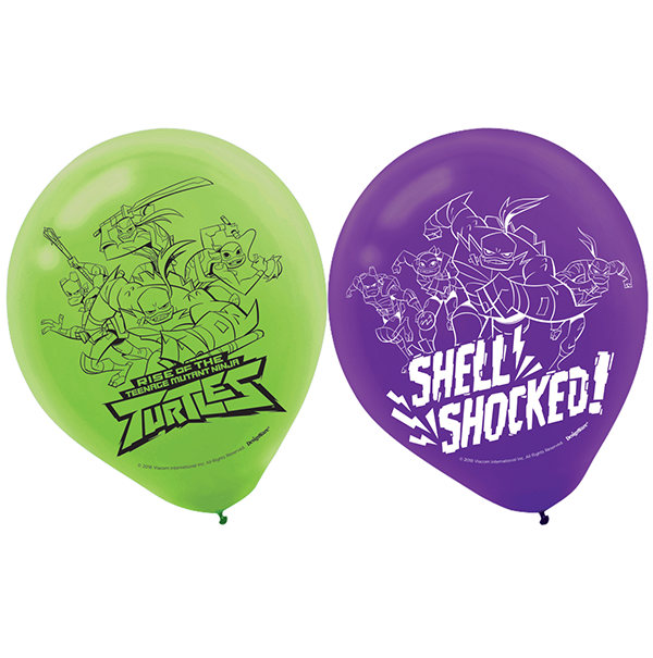 Rise of the Teenage Mutant Ninja Turtles 30cm Latex Balloons