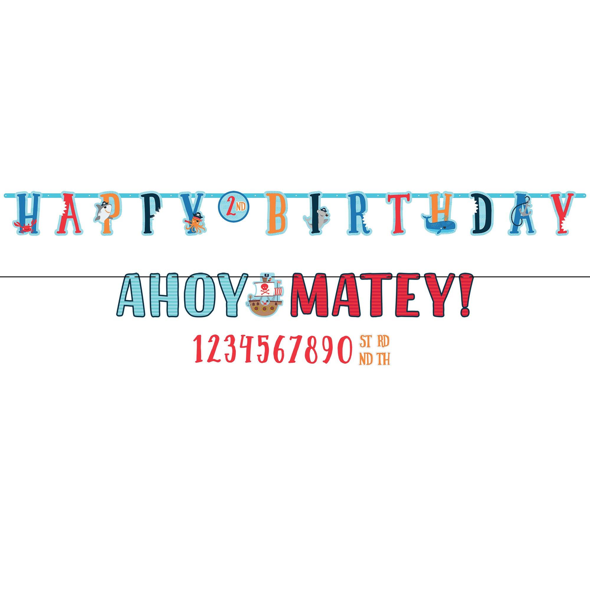 Ahoy Birthday Jumbo Birthday Banner Kit