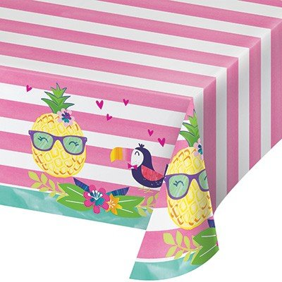 Pineapple N Friends Tablecover Plastic All Over Print 137cm x 259cm