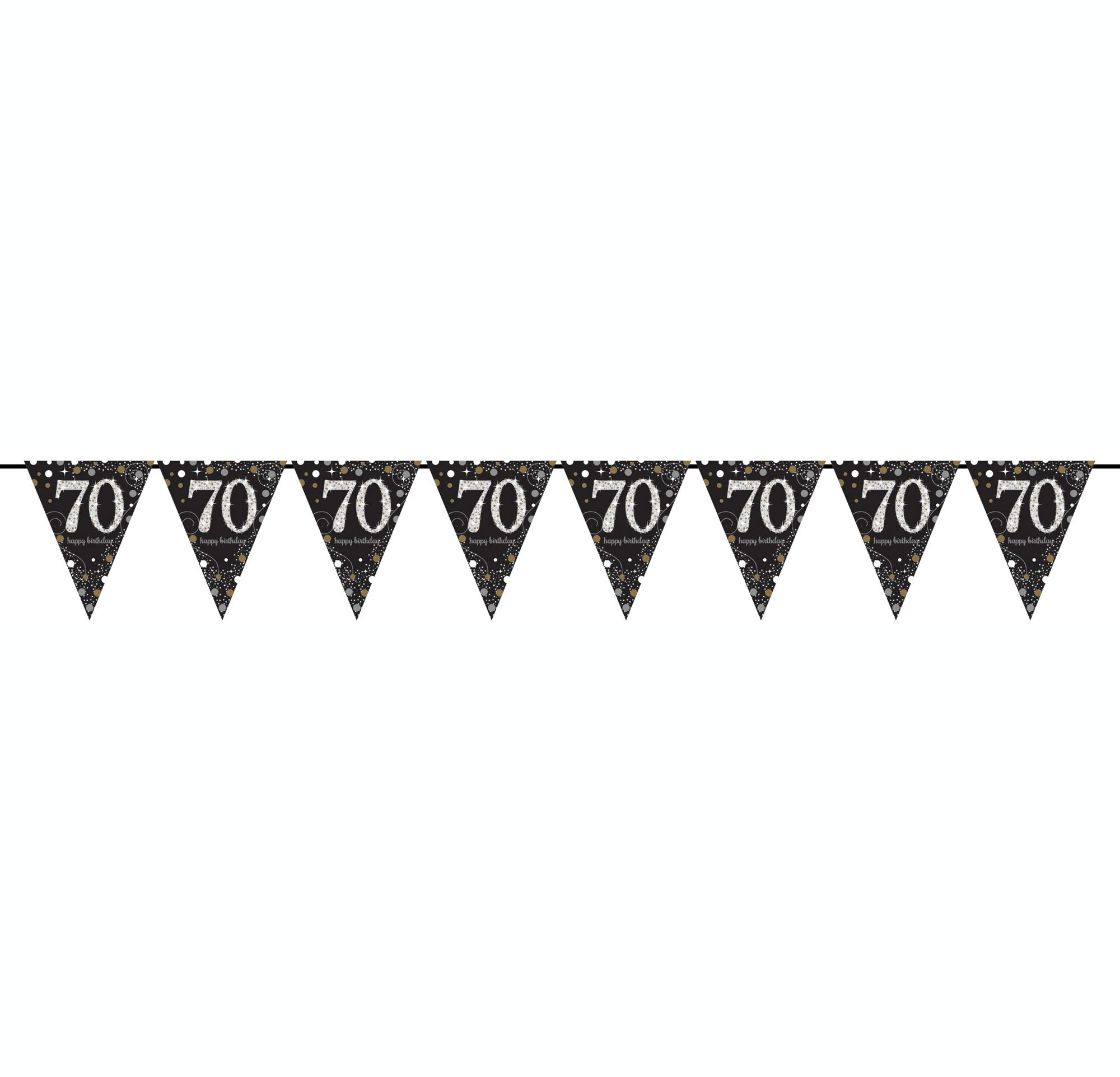 Sparkling Celebration 70 Prismatic Pennant Banner