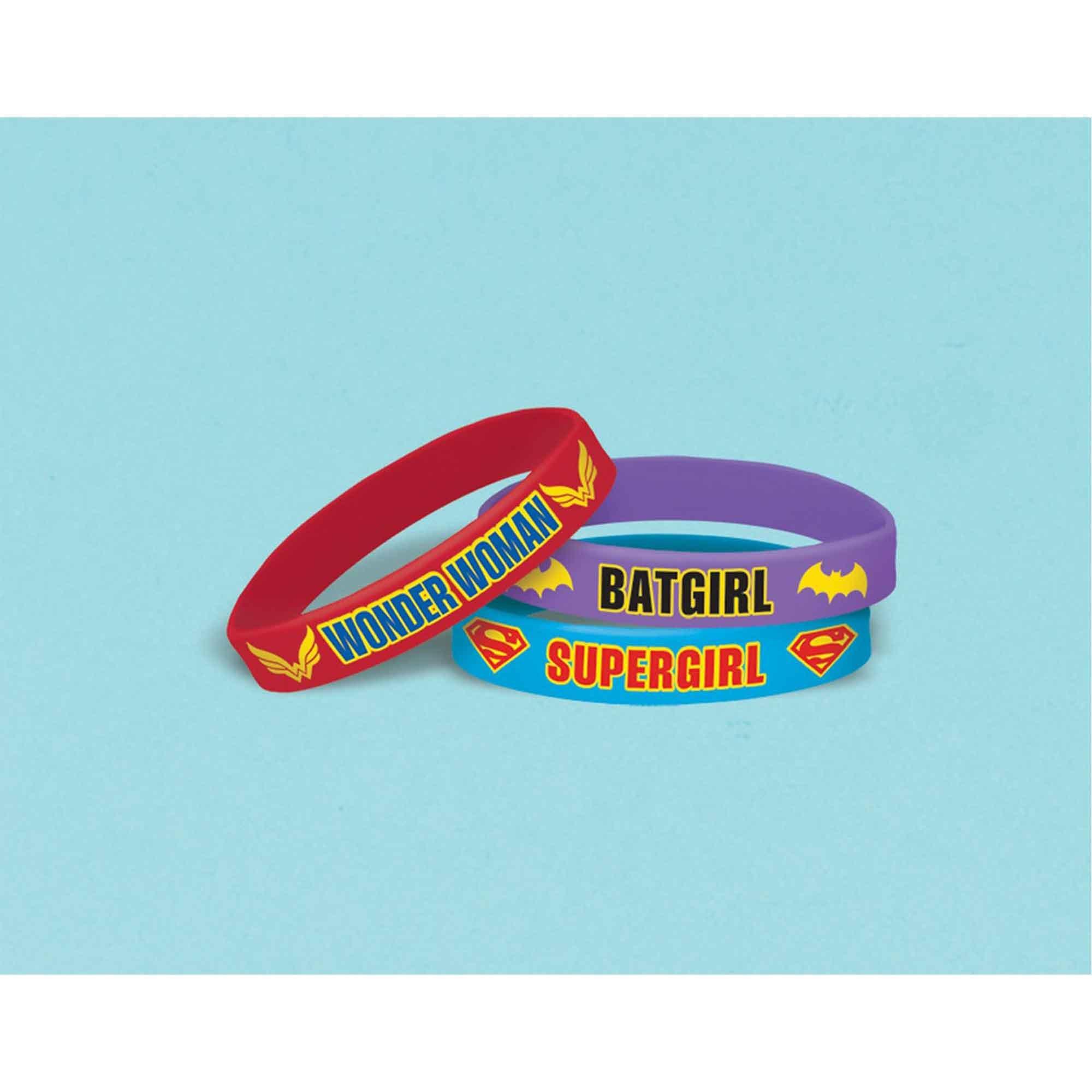 DC Superhero Girls Rubber Bracelet Favor