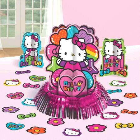 Hello Kitty Rainbow Table Decorations Kit