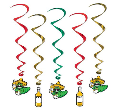 Fiesta Tequila Hanging Decoration Whirls