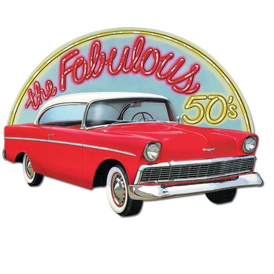 50's the Fabulous 50's Classic Car Cutout