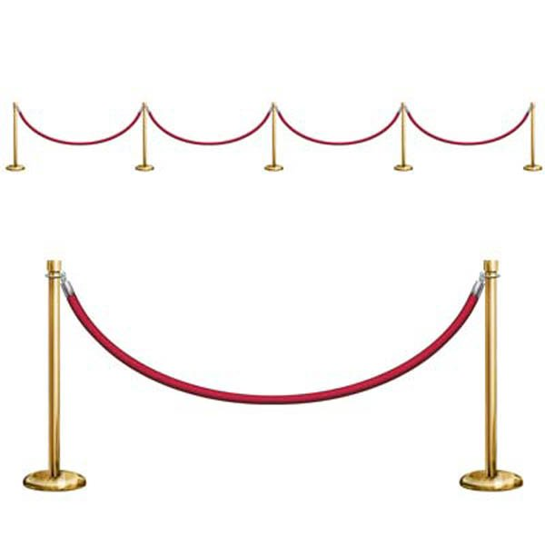 Awards Night Stanchion Barriers Wall Decorations Insta-Theme Props
